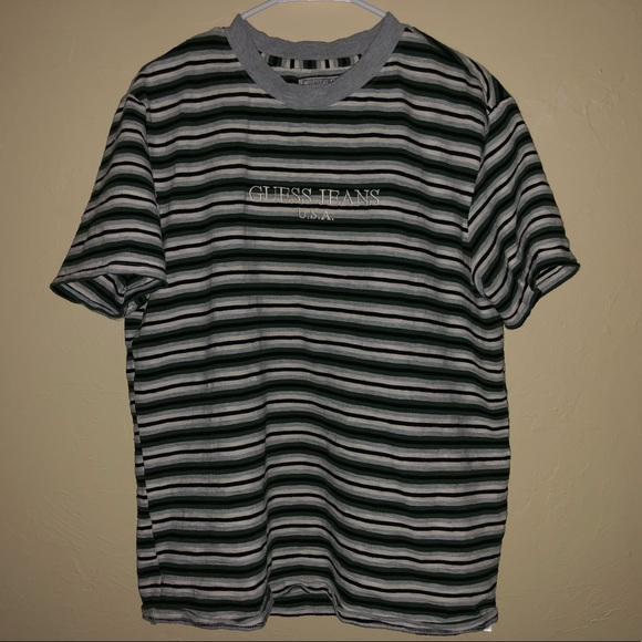 21fc2dec4255a Vintage Guess Jeans Striped Tee
